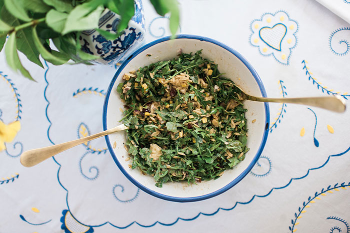 Arugula Orzo Salad made with Goat Cheese