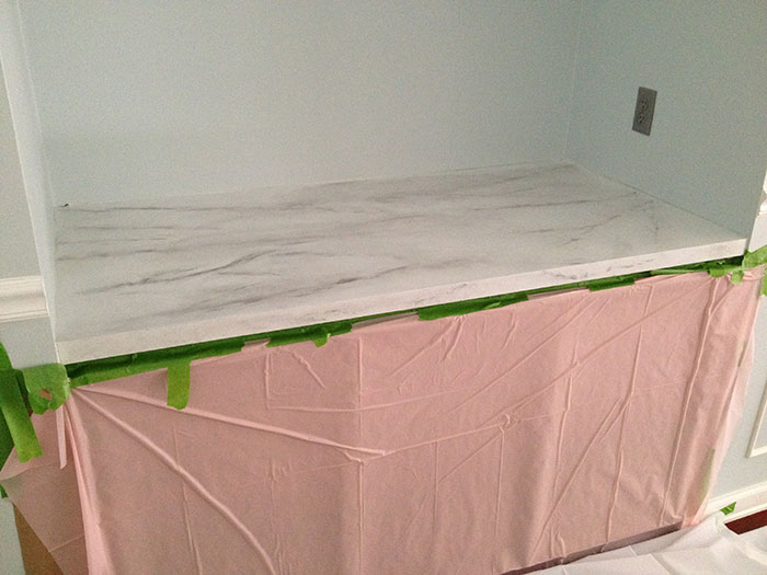 Faux Marble Countertop in the Making By Jewish Latin Princess