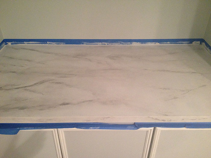 Faux Marble Countertop By Jewish Latin Princess