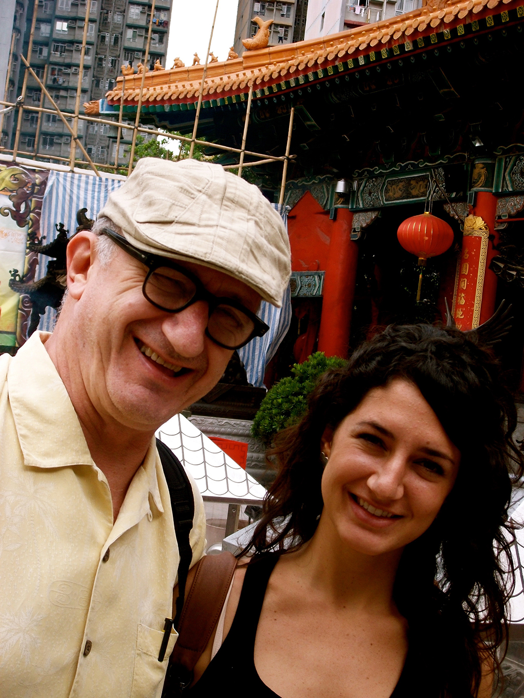 Ronit with her Dad in a business trip in China during the time she worked as a buyer for his hotels.