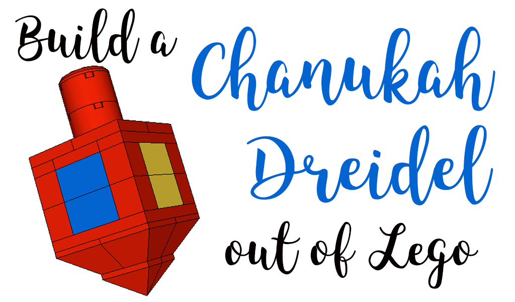 How to Build a Chanukah Dreidel Out of Lego