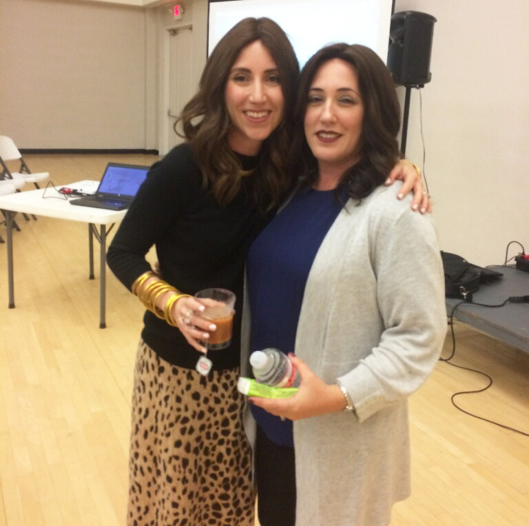 Dina Hurwitz with Yael from Jewish Latin Princess