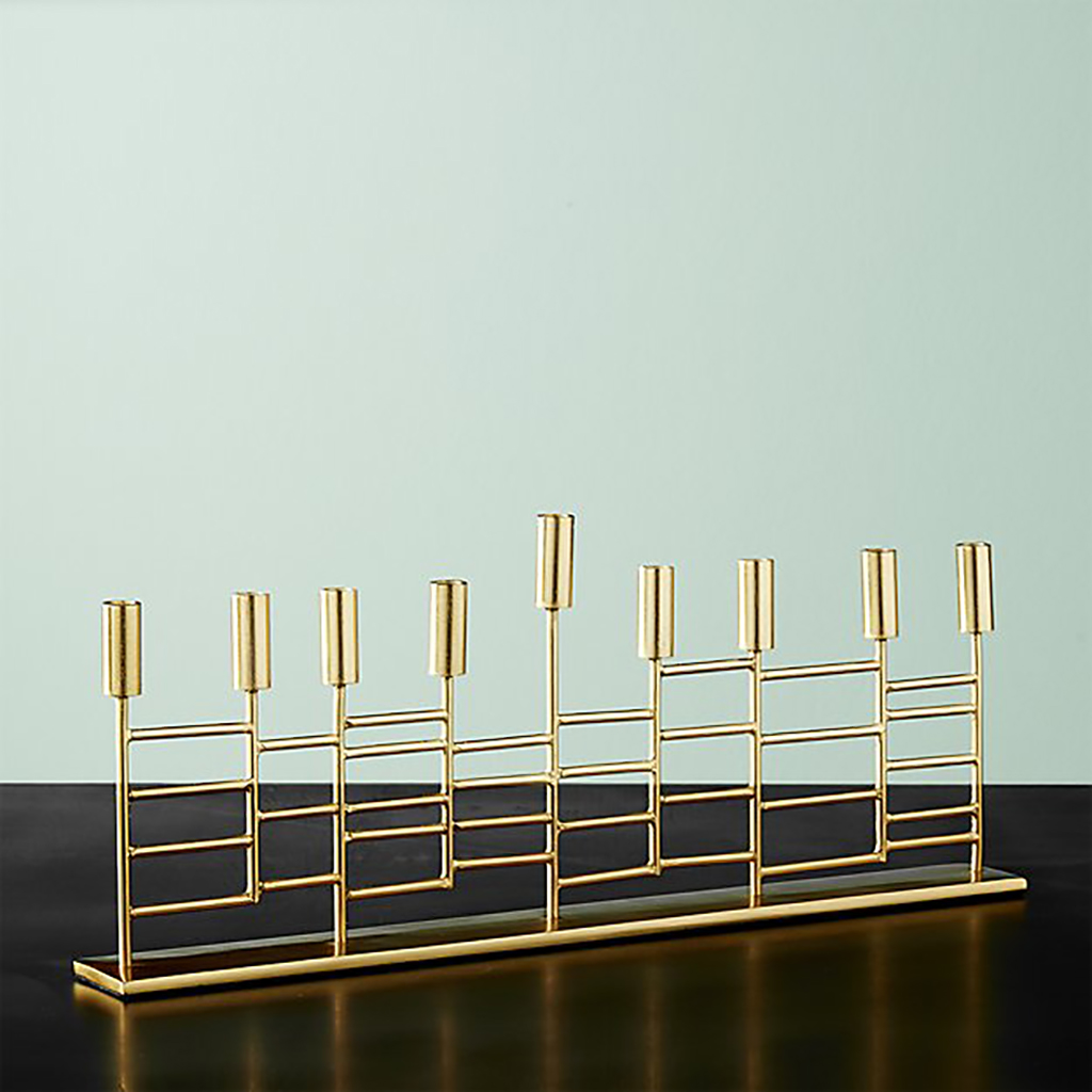 Brass Menorah from Crate and Barrel