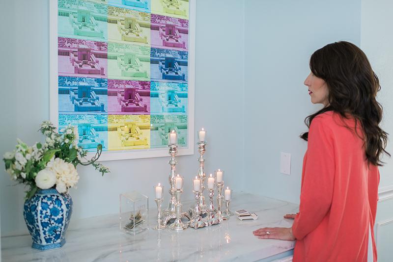 Yael Trusch Lighting Shabbat Candles