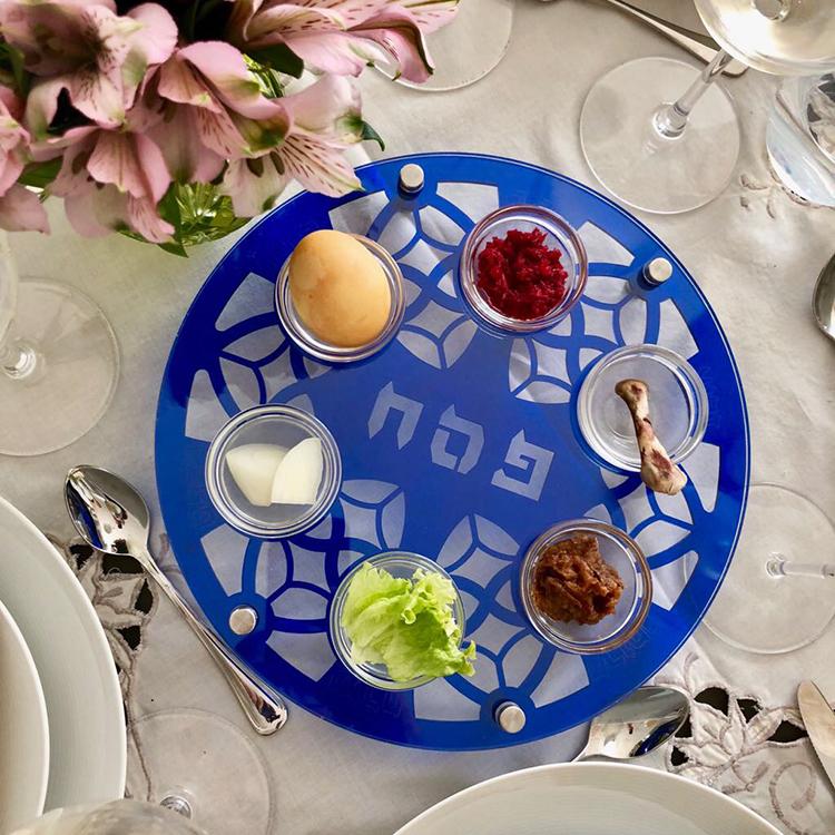 Acrylic Seder Plate Fridzart