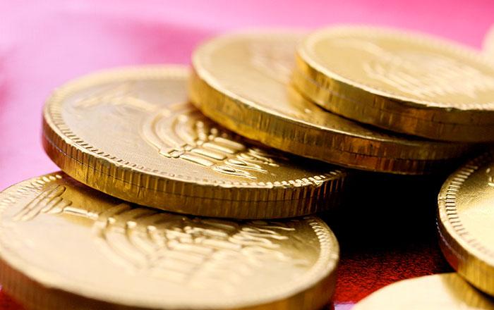 Chanukah Gelt coins