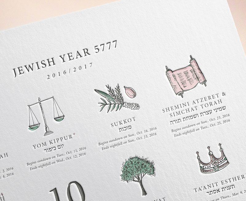 Jewish Calendar Art || Calendario judío 5777