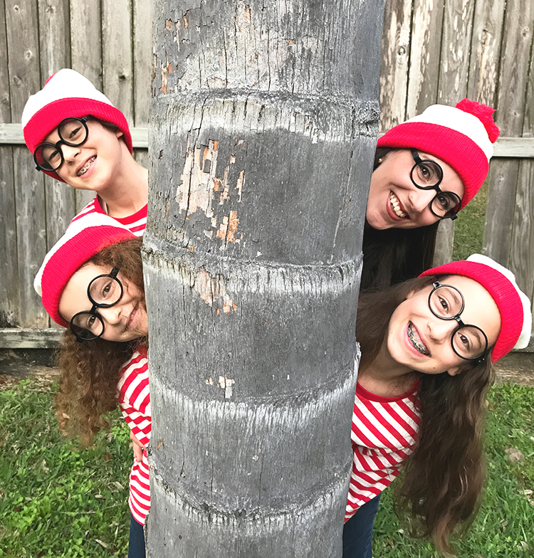 The Miracle in our Waldo Purim Costumes