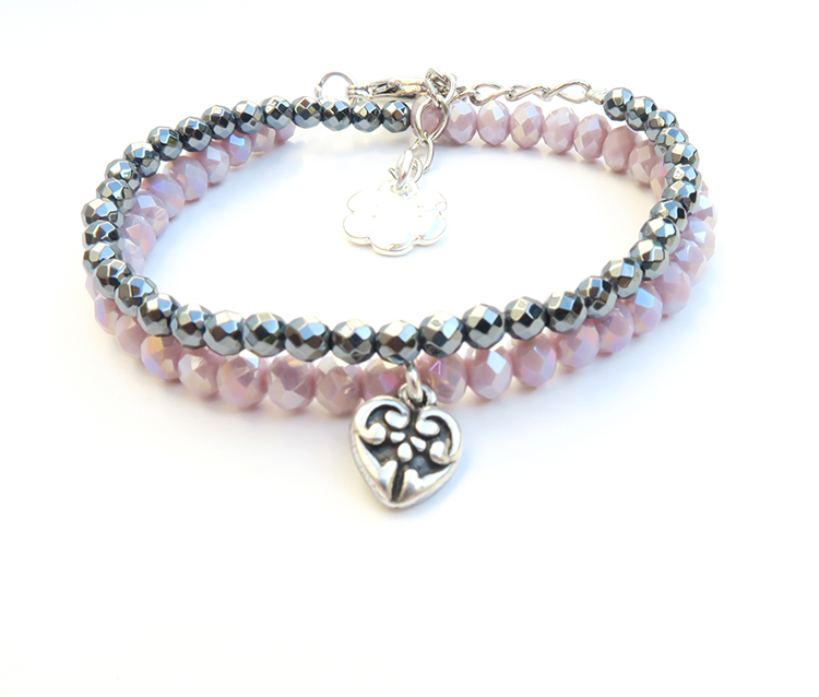 Chen Z Designs Heart Crystal Bracelet